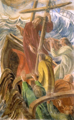 Fresco: Christ Stilling The Storm.