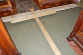 A simple wooden cross...