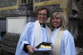 Rev'd Sue with Rev'd Carolyn on their joyous day!