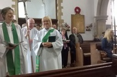 Julie's first service at St Mary's