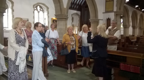 Revd. Carolyn showed the group around the church