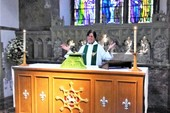 Revd Diana's first Eucharist
