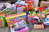 Donated toys for the 'Angel Tree Gift' project