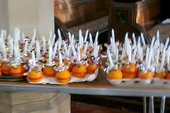 The Christingle begins with an orange...